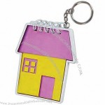 Key chain with house shaped notepad