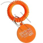 Key ring with plastic wrist coil