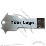 Key Shaped USB Flash Drive with House Topper