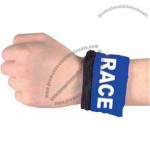 Key sized wrist pack with zipper closure and velcro to wrap around an arm