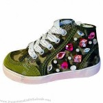 Kid's Boots with Canvas/Suede Leather Upper, PVC Injection Outsole