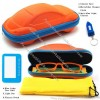 Kids Blue Light Blocking Glasses with Car Shaped Glasses Case - Flexible Silicone Temples