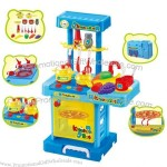 Kids Kitchen Furniture Toy with Light and Music