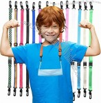 Kids Lanyard for Mask - Adjustable Breakaway Lanyard for Kid's Facemask