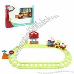 Kids' Plastic Train Tracks Toy with Light and Music
