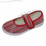 Kids' Shoe with PVC Injection Outsole and Canvas Upper