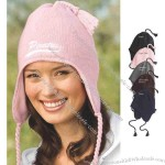 Knit hat with earflaps,