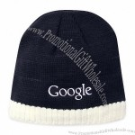 Knitted Beanie with Fleece Ear Lining