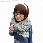Knitted Winter Women's Neck Warmer
