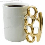 Knuckle Duster Coffee Mug - Brass Knuckle Cup