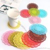 Lace Silicone Coaster, Insulated Coffee Cup Mat