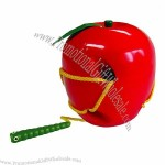 Lacing Apple Wooden Toys
