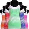 Ladies Advanced Seamless Striped Tank Tops with Adjustable Straps