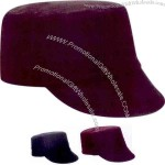 Ladies' fashion packable wool cap with plaid under bill.