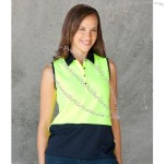 Ladies Hi Vis S/Less Polo