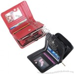 Ladies Leather Purse Wallet with Zippered