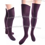 Ladies Over the Knee Size 9-11 Purple Socks