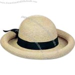 Ladies' packable sewn braid straw hat