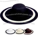 Ladies' wide brim fashion toyo hat.