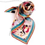 Lady Stylish Silk Printed Scarf