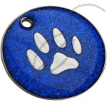 Large 32mm, Engraved Dog ID Tag - Glitter Paw