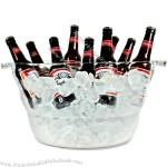 Large Acrylic Oval Drinks Pail & Cooler