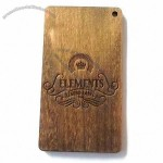 Laser Cut Wooden Hangtag with Heat Pressed Logo