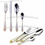 Latest Gold Table Knife, Fork and Spoons, Suitable for Home Use