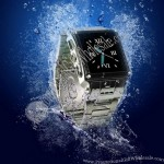 Latest Waterproof GSM Metal Wrist Watch Mobile Phone