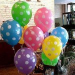 Latex colored balloon, dots printed balloon