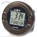LCD Talking Clock with Calendar and Temperature Display