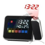LCD Weather Station Projection Alarm Clock With Calender