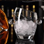 Lead-Free Crystal Glass Ice Bucket