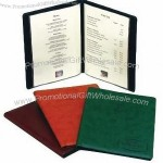 Leather A4 Menu Cover & Wine List Holder with One Double PVC Pocket
