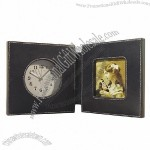 Leather Alarm Clock with Photo Frame(1)