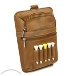 LEATHER ALL IN ONE GOLF POUCH