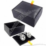 Leather And Plastic Cufflink Boxes