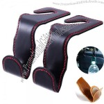 Leather Car Hooks for Purses and Bags - Car Vehicle Back Seat Headrest Hanger Holder Hook