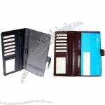Leather Checkbook Cover 22.5 X 23.5 cm