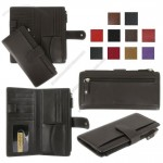 Leather Checkbook Wallet with Coin Pocket