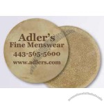 "Leather Coasters 3 7/8"" Diameter"