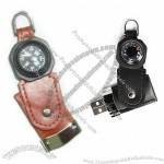 Leather Compass USB Flash Drive