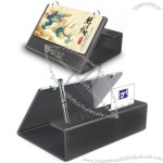 Leather Desk Calendar wtih Three Pen Stand and Name Card Holder