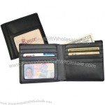 "Leather Double ID Hipster Wallet 4"" x 4 1/4"""