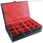 Leather Eclipse 15 Cufflink Box