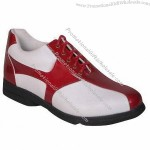 Leather Golf Shoe with Super PU