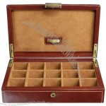 Leather Heritage Chestnut 15 Pair Cufflink