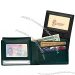 Leather Men's Removable ID Pass Case Wallet