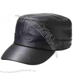 Leather Military Hat