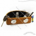 Leather Travelling Alarm Clock(1)